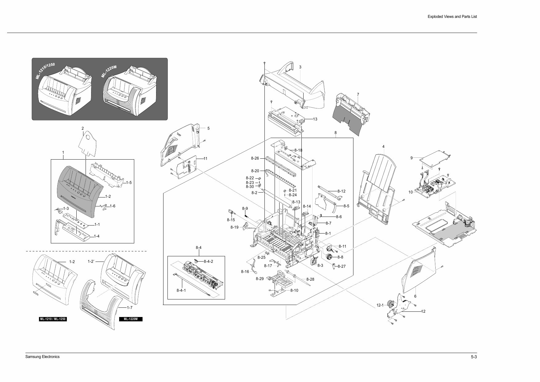 Samsung Laser Printer Ml M Parts And Service